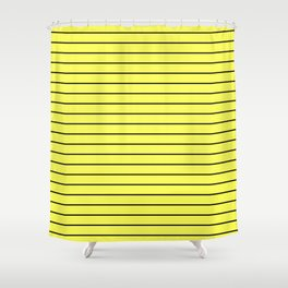 Black Lines On Yellow Shower Curtain
