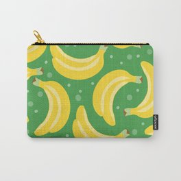 Vector bananas in a green background Carry-All Pouch