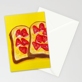 Strawberry Butter Toast Stationery Cards
