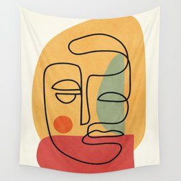 Abstract Face 20 Wall Tapestry