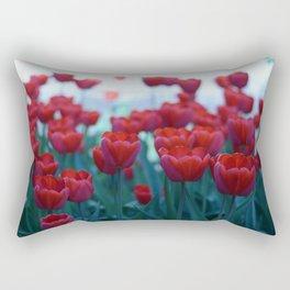 Red Tulips Rectangular Pillow