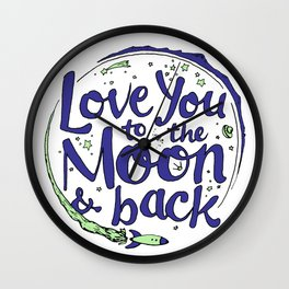 Love You to the Moon & Back...Blueberry Mint Wall Clock