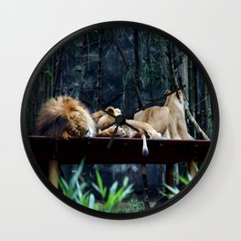 Lions Wall Clock