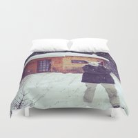 montana Duvet Covers featuring Montana by Art Department Bunny
