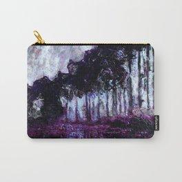 Monet : Poplars Purple Violet Indigo Carry-All Pouch