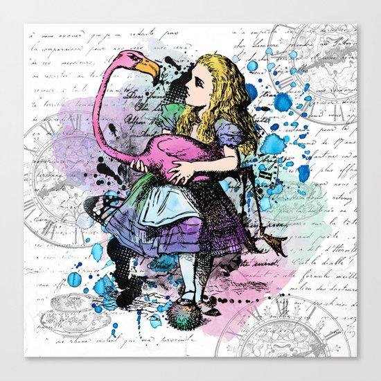 Alice in Wonderland collage Canvas Print