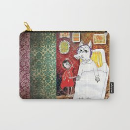 Girl & Wolf Carry-All Pouch