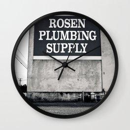 Rosen Plumbing Supply Wall Clock