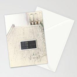 Old Window, vintage farm house Sonoma County Photography, Whitewashed - Old Fence  Stationery Cards