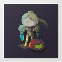 samus Canvas Prints featuring Samus by Rod Perich
