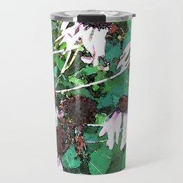 Watercolor Echinacea Travel Mug