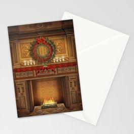 Christmas Fireplace Stationery Cards