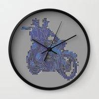 motorbike Wall Clocks featuring Motorbike  by marcusmelton