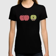 Green Apples Are Always Angry Womens Fitted Tee SMALL Black