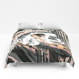 Modern Horse Art by Sharon Cummings Comforters