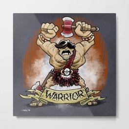 Gauntlet: Warrior portrait Metal Print