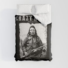 Crazy Horse-Lakota Chief-Warrior-Sioux-Indian-History Comforters