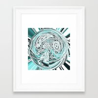 lunar Framed Art Prints featuring Lunar by Susan Laine Studios