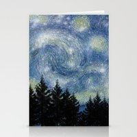 starry night Stationery Cards featuring Starry Night by Astrablink7