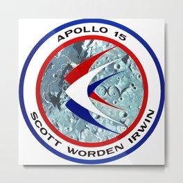 Apollo 15 Logo Metal Print
