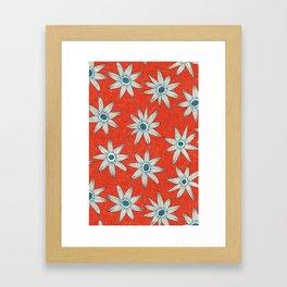 sema fire orange blue Framed Art Print