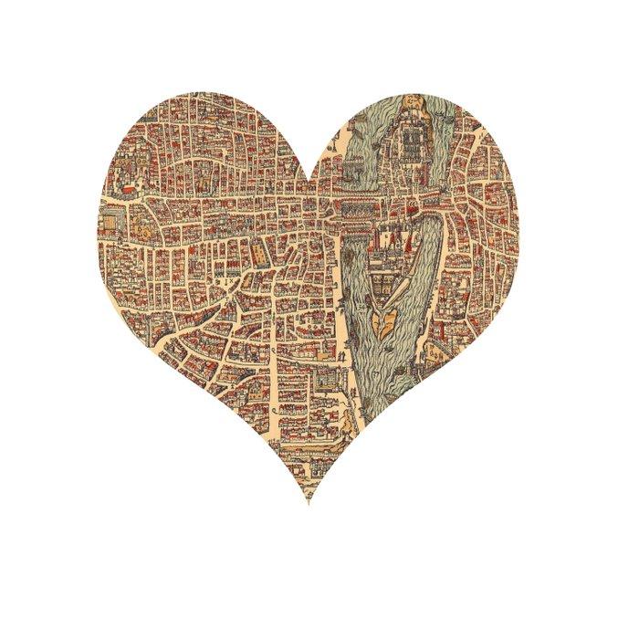 heart map 4 Duvet Cover