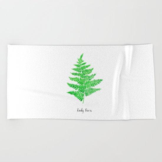 Lady fern Beach Towel
