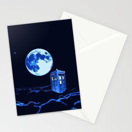 tardis  in the sky Stationery Cards