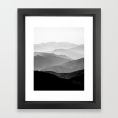 Mountain Mist - Black and White Collection Framed Art Print