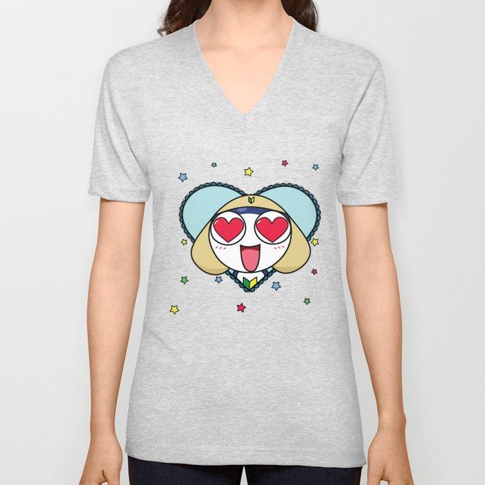 Space Frog In Love. Unisex V-Neck