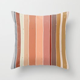Earthy Palette Throw Pillow