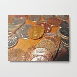 Cents Metal Print