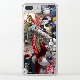 Cosmic Witchcraft Clear iPhone Case