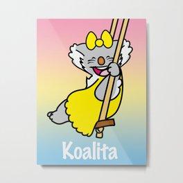 Koalita on the swing Metal Print