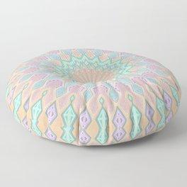 Crystal Magic - Mandala Art Floor Pillow