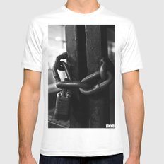 Trapped Mind White SMALL Mens Fitted Tee
