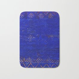 -A5- Royal Calm Blue Bohemian Moroccan Artwork. Bath Mat