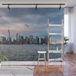 Skyline  of New York City at sunset Wall Mural