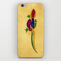 lizard iPhone & iPod Skins featuring Lizard by Aleksandra Mikolajczak