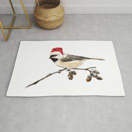 Christmas Bird in Winter Rug