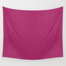 Knitted spring colors - Pantone Pink Yarrow Wall Tapestry