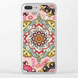 Mandala color pattern Clear iPhone Case