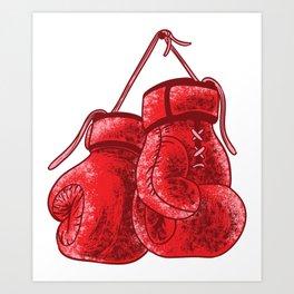Boxing Gloves Shirt - vintage boxing gloves Art Print