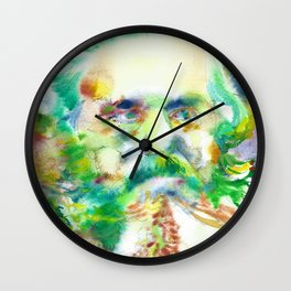 KARL MARX - watercolor portrait Wall Clock