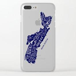Nova Scotia Map Clear iPhone Case