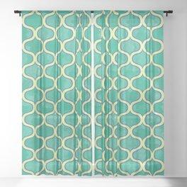 Watercolor Lovely Pattern VVV Sheer Curtain