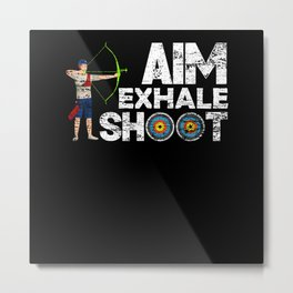 Archery Exhale Metal Print