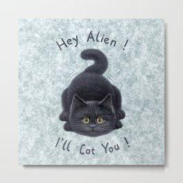Black kitten Metal Print