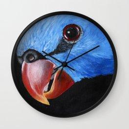 Curious Lorikeet Bird Artwork Wall Clock