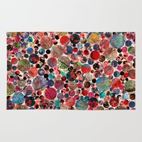 polka dot Area & Throw Rugs featuring Bright polka dot(3). by Mary Berg